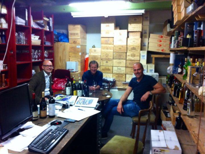 Eddie Turner van Meerlust (ZA) brengt bezoek aan Cave Rokin